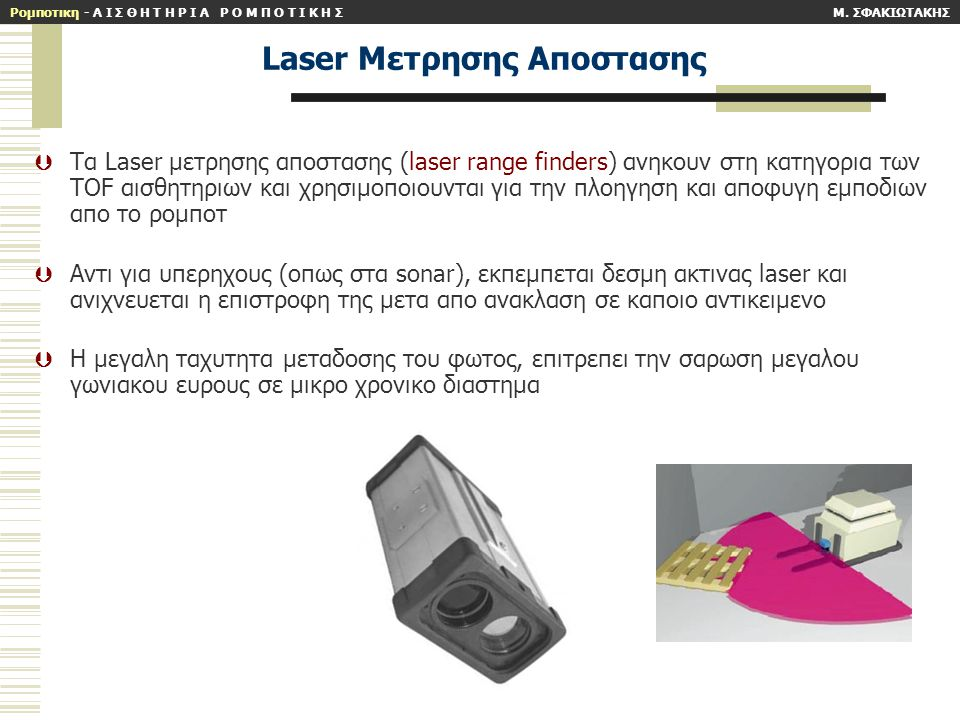 Laser Mετρησης Aποστασης