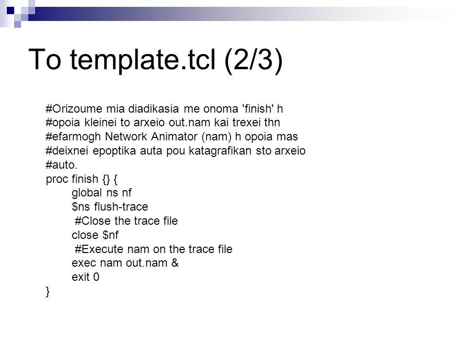 Το template.tcl (2/3) #Orizoume mia diadikasia me onoma finish h