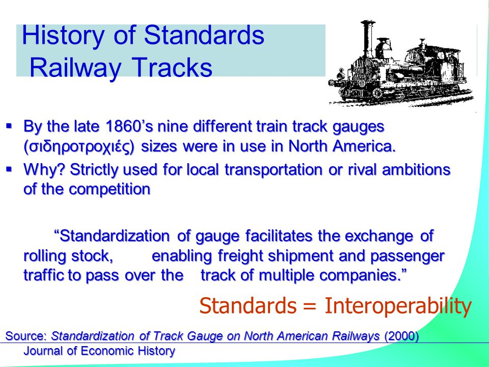 History of Standards Railway Tracks