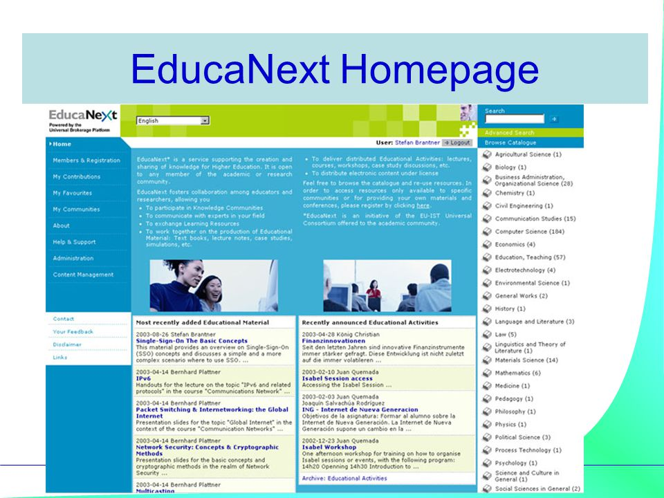 EducaNext Homepage