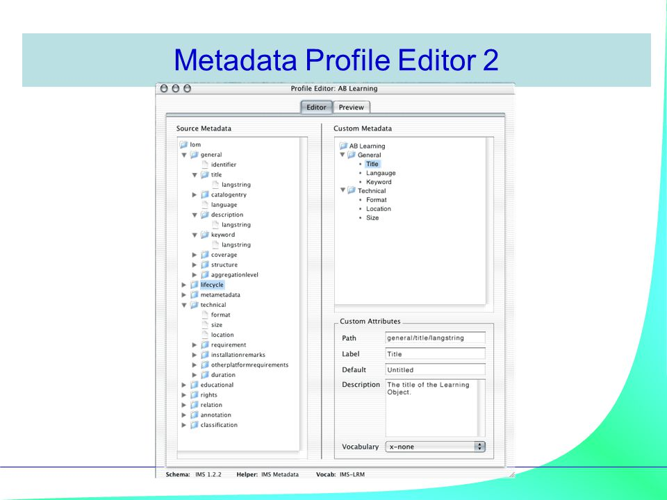 Metadata Profile Editor 2