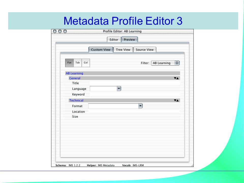 Metadata Profile Editor 3