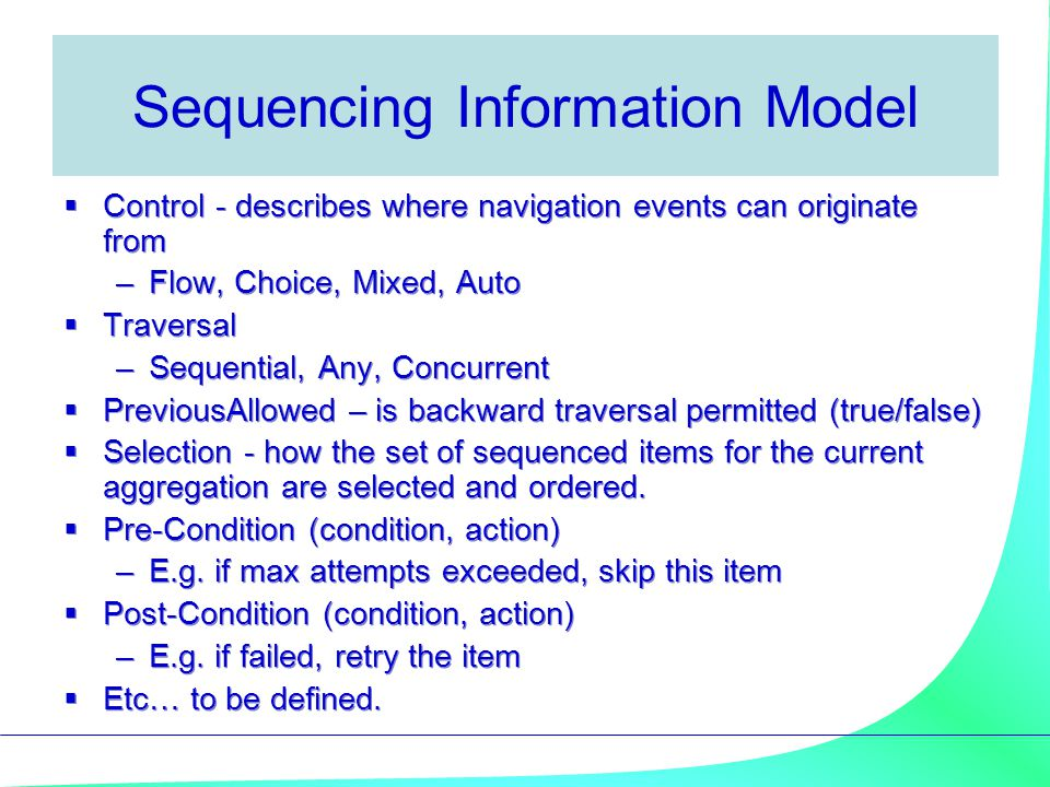 Sequencing Information Model