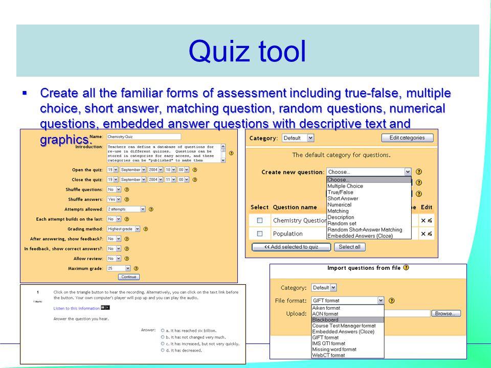 Quiz tool