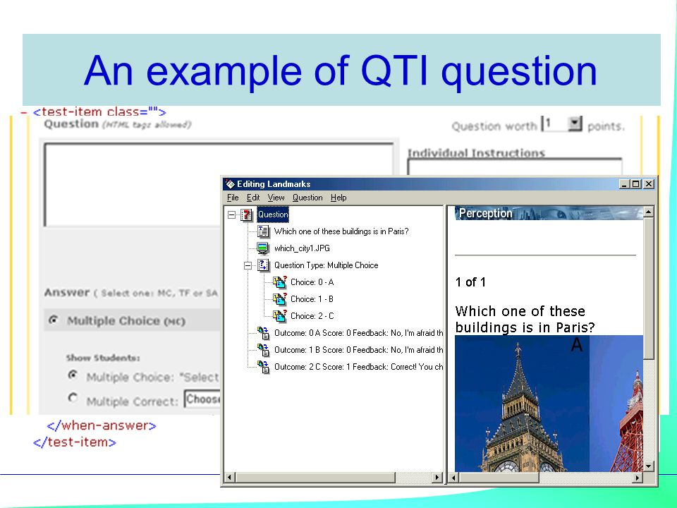 An example of QTI question