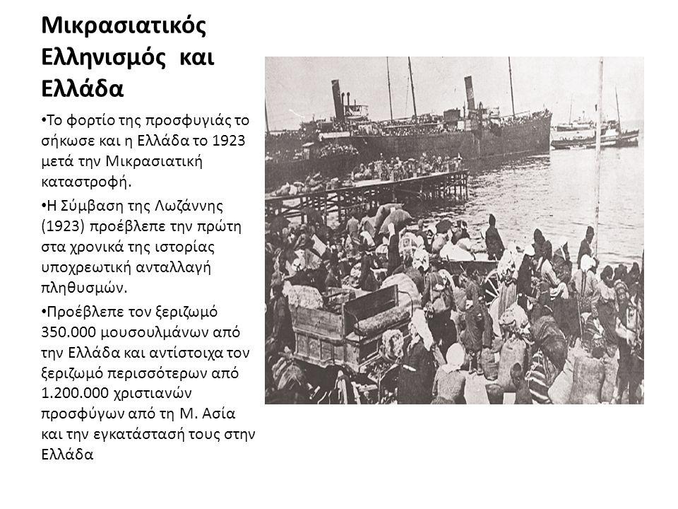 Μικρασιατικός Ελληνισμός και Ελλάδα