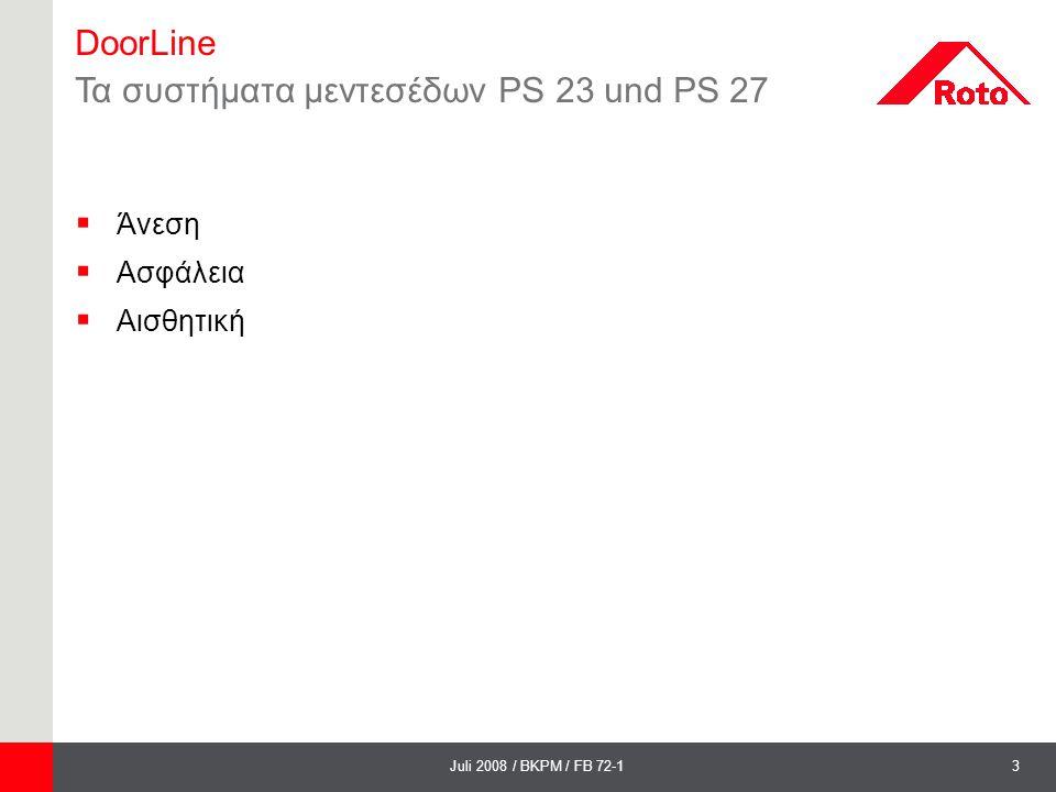 Τα συστήματα μεντεσέδων PS 23 und PS 27