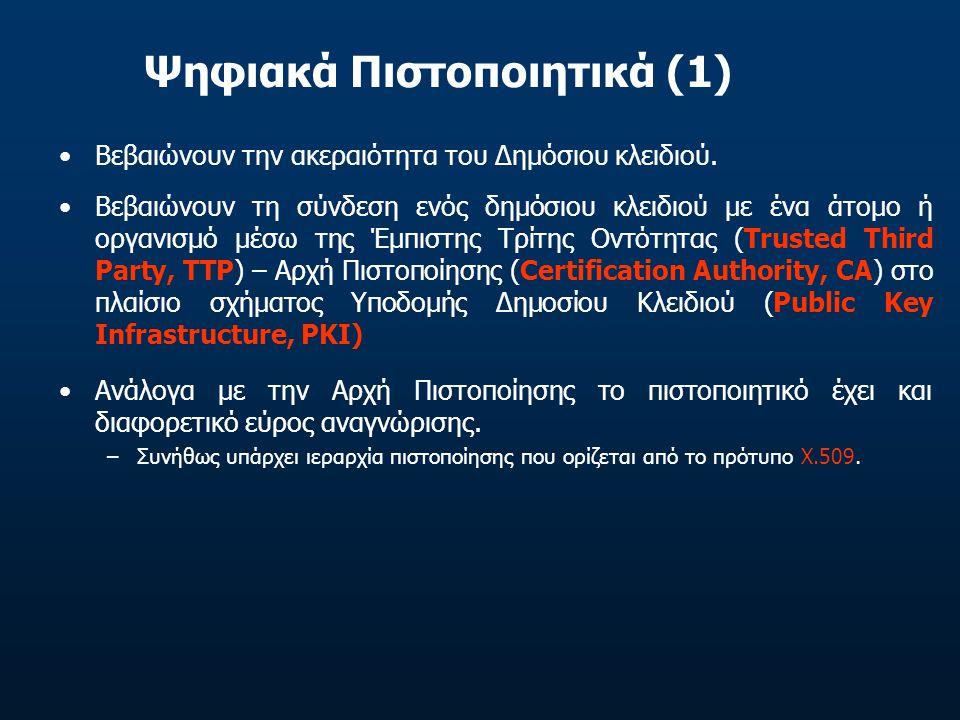 Ψηφιακά Πιστοποιητικά (1)