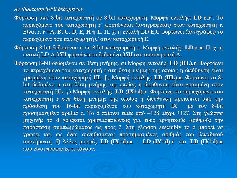 Α) Φόρτωση 8-bit δεδομένων