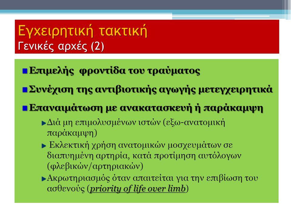 Εγχειρητική τακτική Γενικές αρχές (2)
