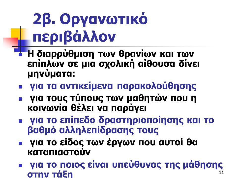 2β. Οργανωτικό περιβάλλον