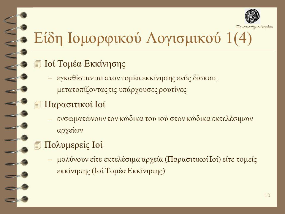 Είδη Ιομορφικού Λογισμικού 1(4)