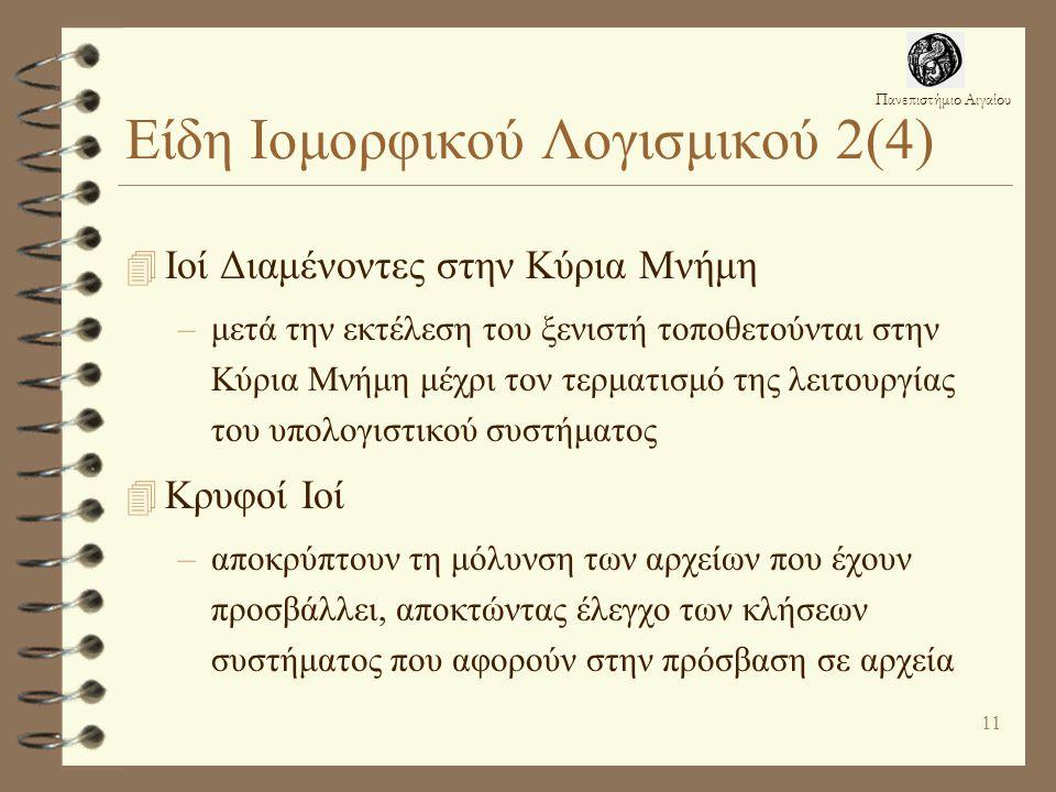 Είδη Ιομορφικού Λογισμικού 2(4)