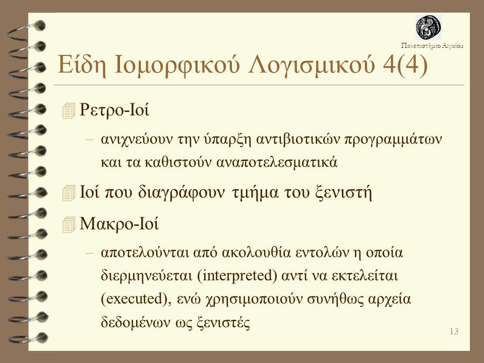 Είδη Ιομορφικού Λογισμικού 4(4)
