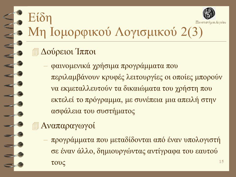 Είδη Μη Ιομορφικού Λογισμικού 2(3)
