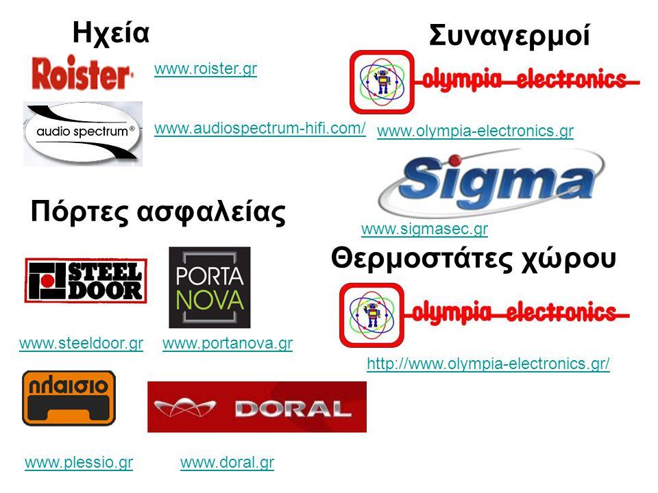Ηχεία Συναγερμοί Πόρτες ασφαλείας Θερμοστάτες χώρου www.roister.gr