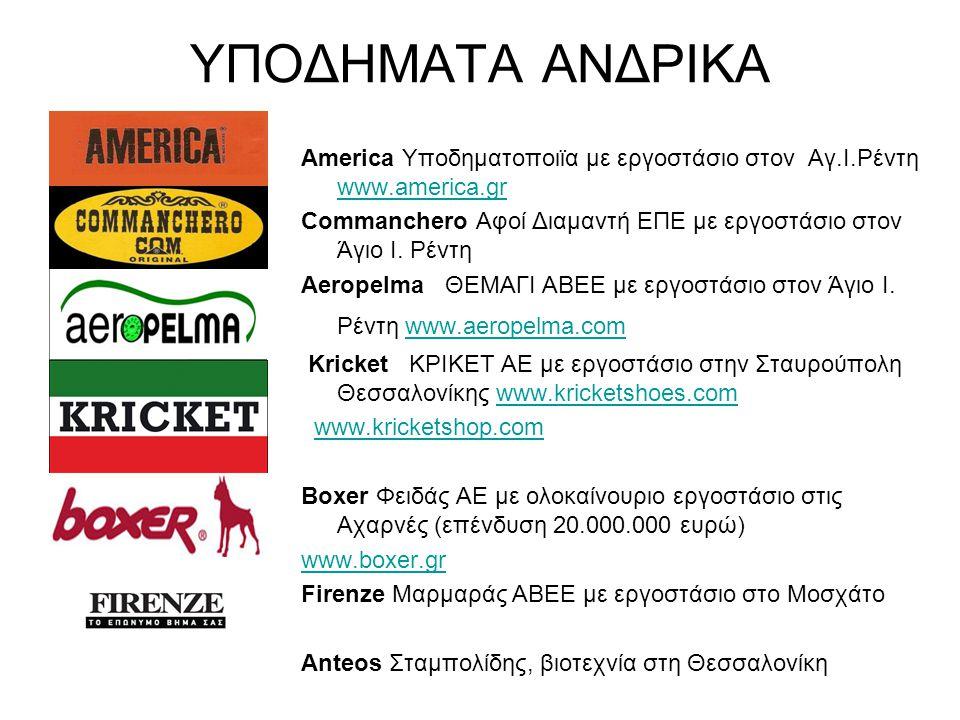 ΥΠΟΔΗΜΑΤΑ ΑΝΔΡΙΚΑ America Υποδηματοποιϊα με εργοστάσιο στον Αγ.Ι.Ρέντη www.america.gr.