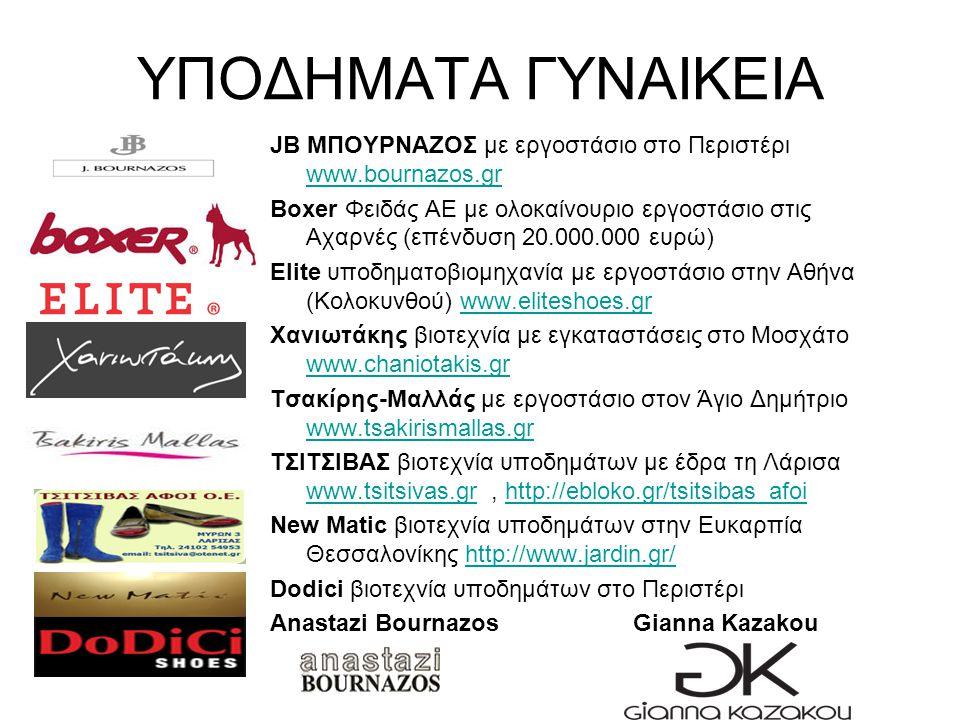 ΥΠΟΔΗΜΑΤΑ ΓΥΝΑΙΚΕΙΑ JB ΜΠΟΥΡΝΑΖΟΣ με εργοστάσιο στο Περιστέρι www.bournazos.gr.