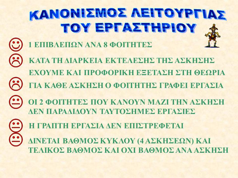 ΚΑΝΟΝΙΣΜΟΣ ΛΕΙΤΟΥΡΓΙΑΣ