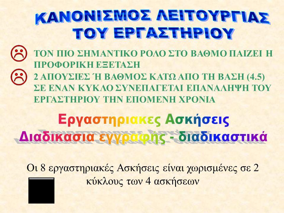 ΚΑΝΟΝΙΣΜΟΣ ΛΕΙΤΟΥΡΓΙΑΣ ΤΟΥ ΕΡΓΑΣΤΗΡΙΟΥ
