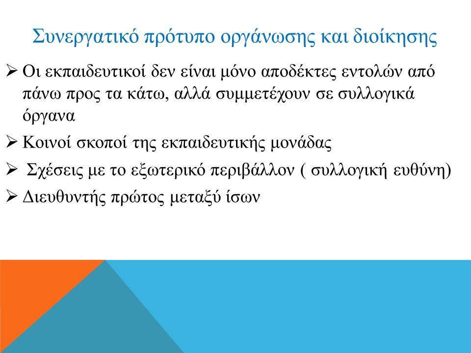 Συνεργατικό πρότυπο οργάνωσης και διοίκησης