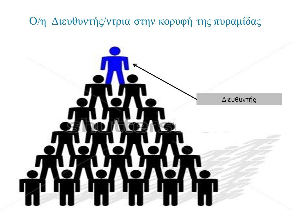 Ο/η Διευθυντής/ντρια στην κορυφή της πυραμίδας