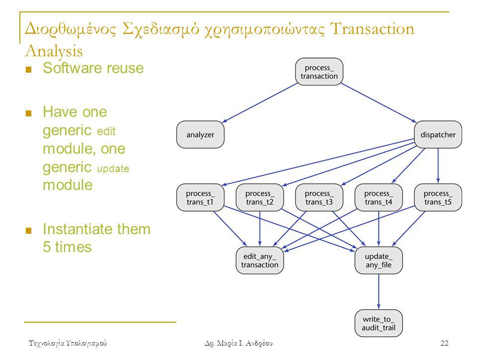 Διορθωμένος Σχεδιασμό χρησιμοποιώντας Transaction Analysis