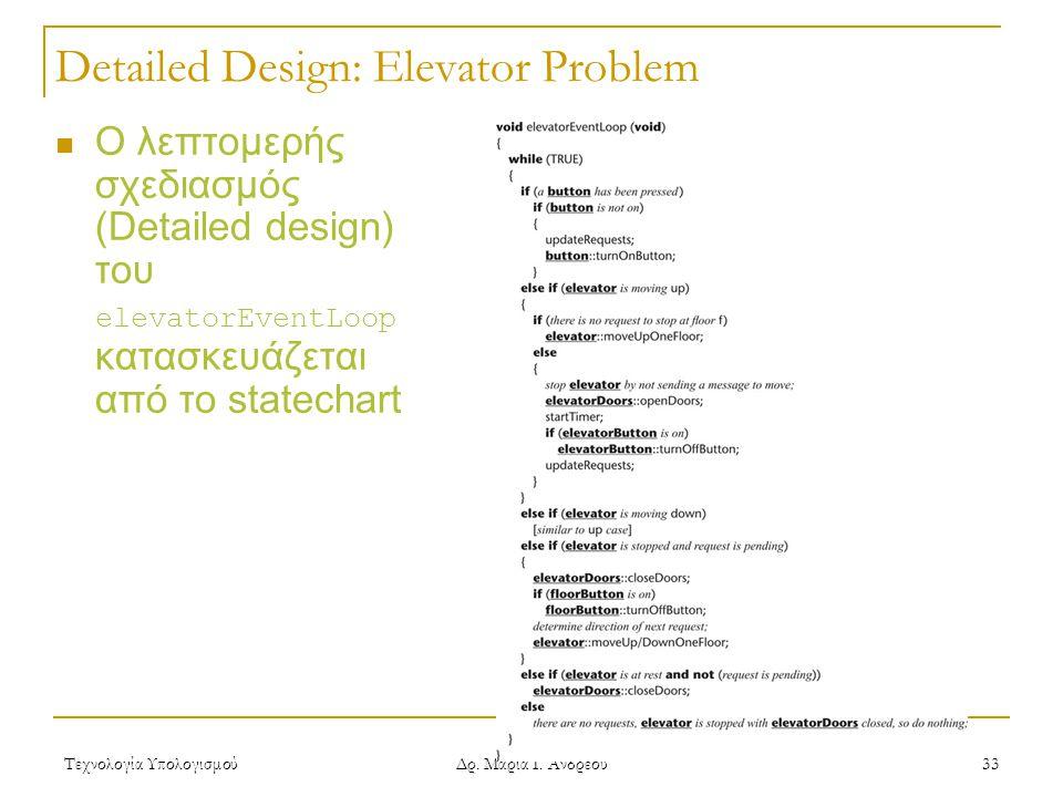 Detailed Design: Elevator Problem