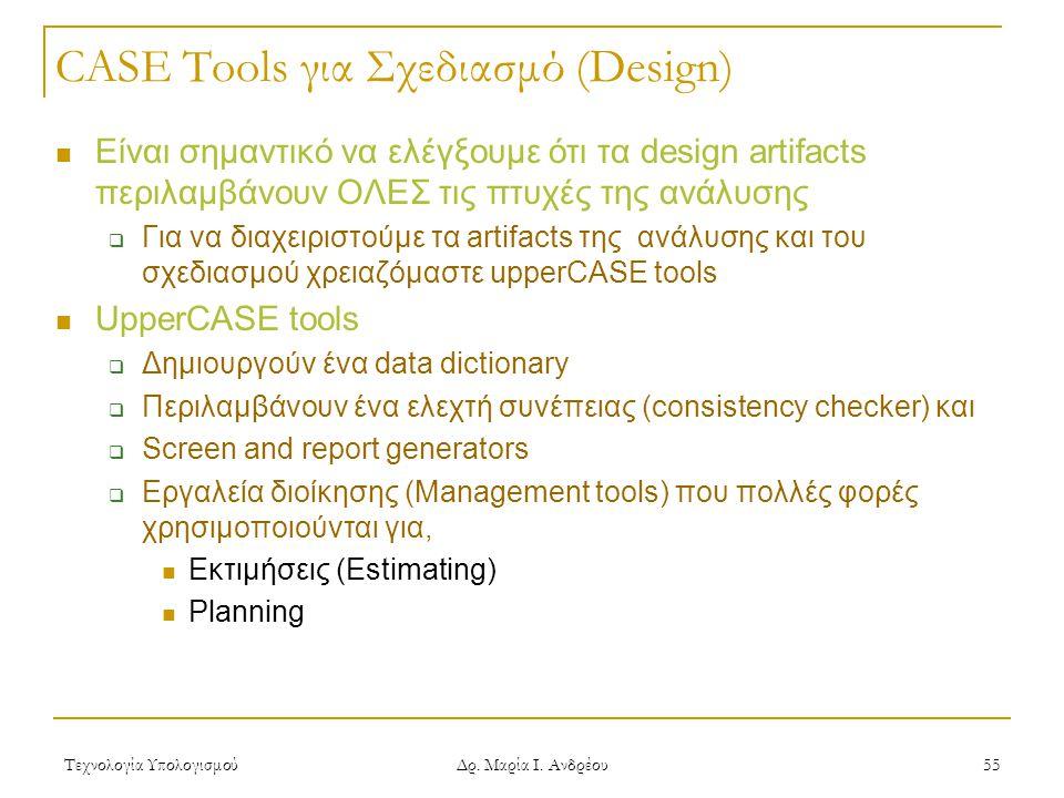 CASE Tools για Σχεδιασμό (Design)
