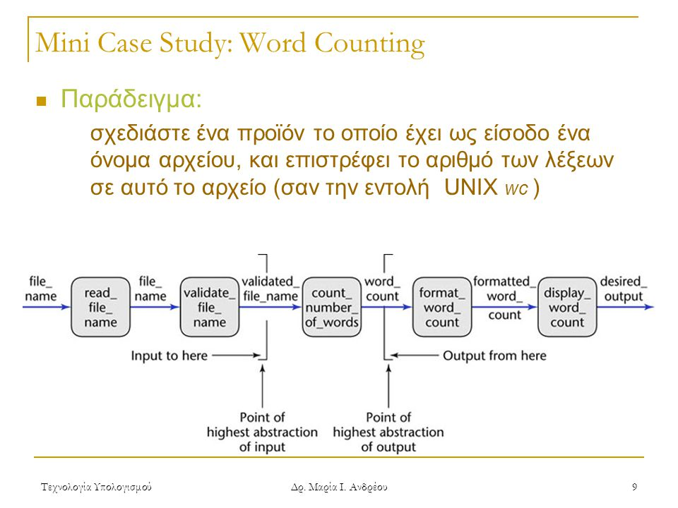 Mini Case Study: Word Counting