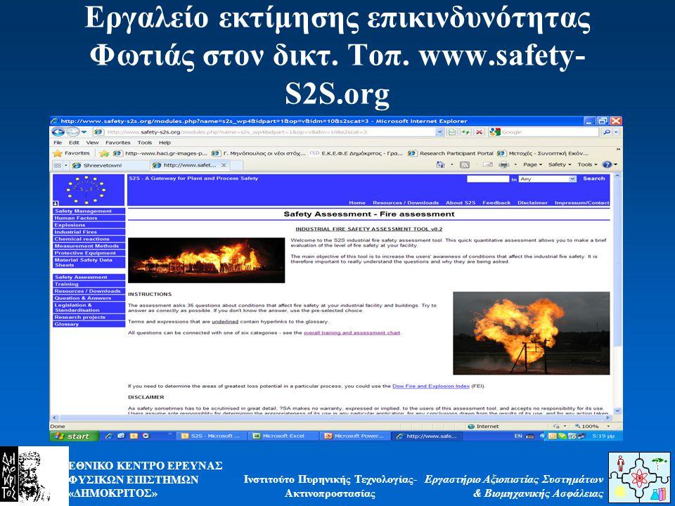 Εργαλείο εκτίμησης επικινδυνότητας Φωτιάς στον δικτ. Τοπ. www