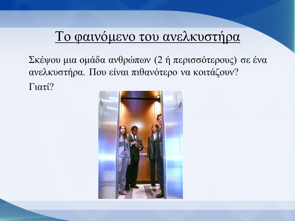 Το φαινόμενο του ανελκυστήρα