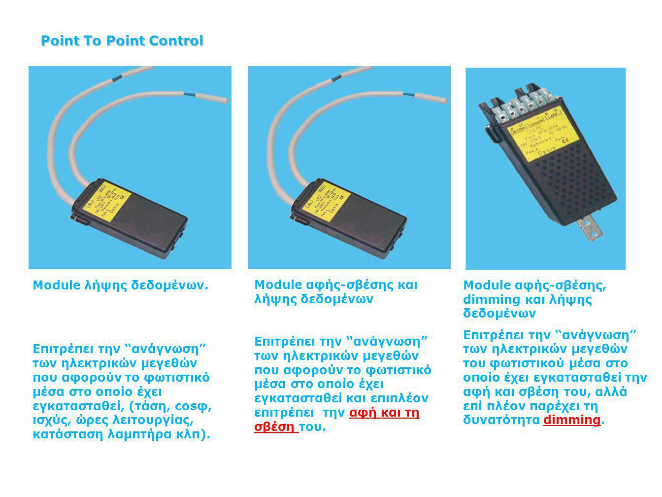 Point To Point Control Module λήψης δεδομένων.