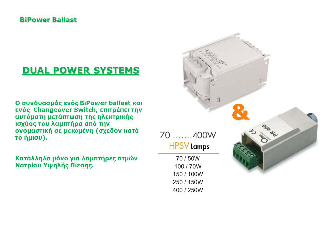 & DUAL POWER SYSTEMS BiPower Ballast