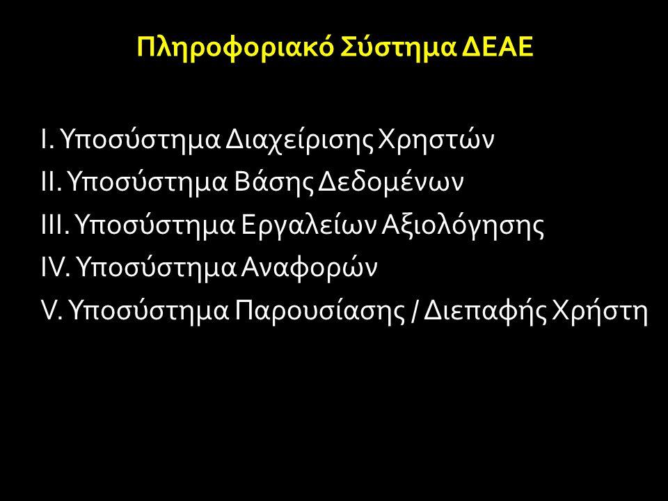 Πληροφοριακό Σύστημα ΔΕΑΕ