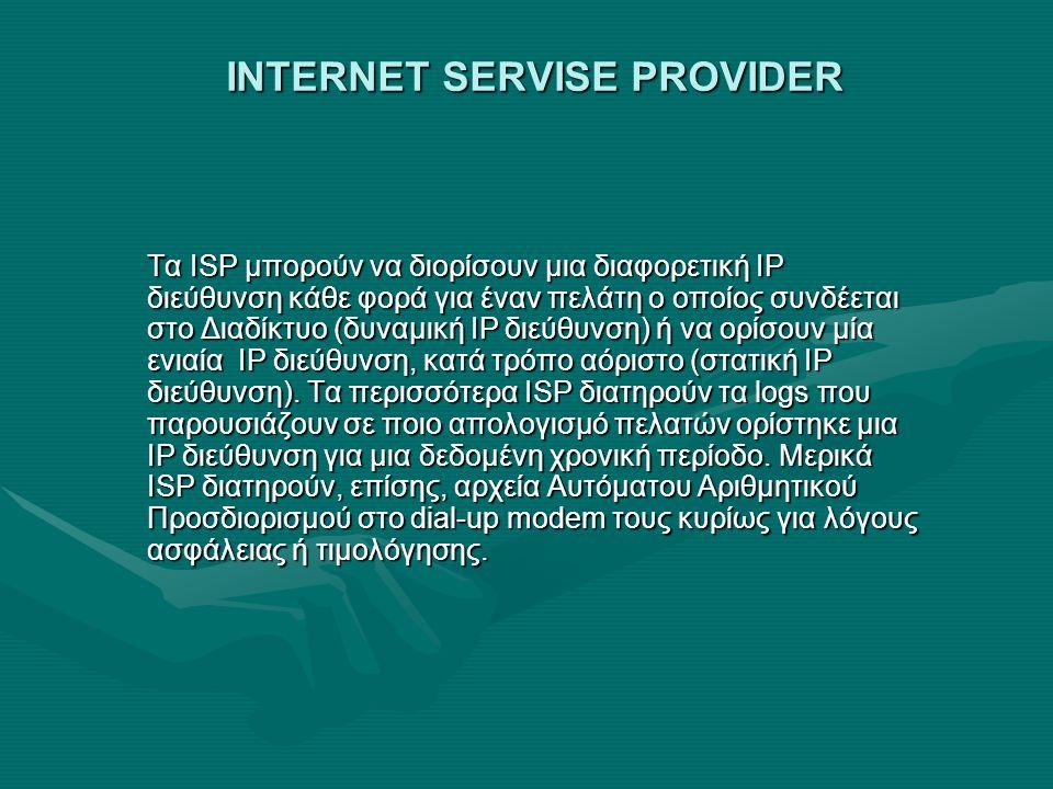 INTERNET SERVISE PROVIDER