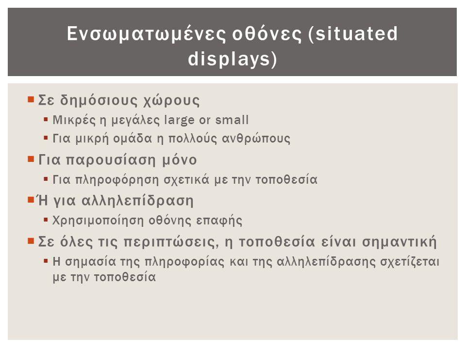 Ενσωματωμένες οθόνες (situated displays)