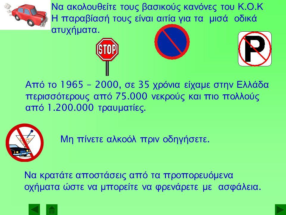 Να ακολουθείτε τους βασικούς κανόνες του Κ. Ο