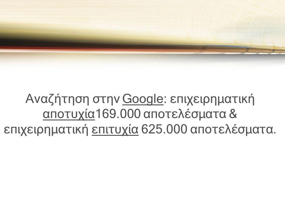 Αναζήτηση στην Google: επιχειρηματική αποτυχία169