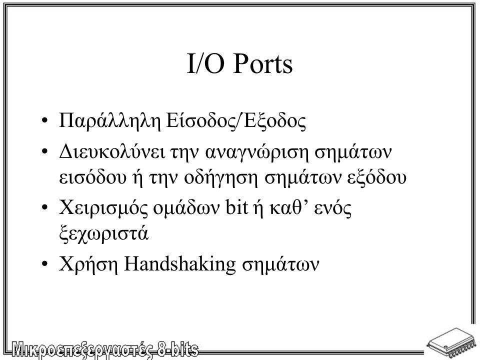 I/O Ports Παράλληλη Είσοδος/Έξοδος