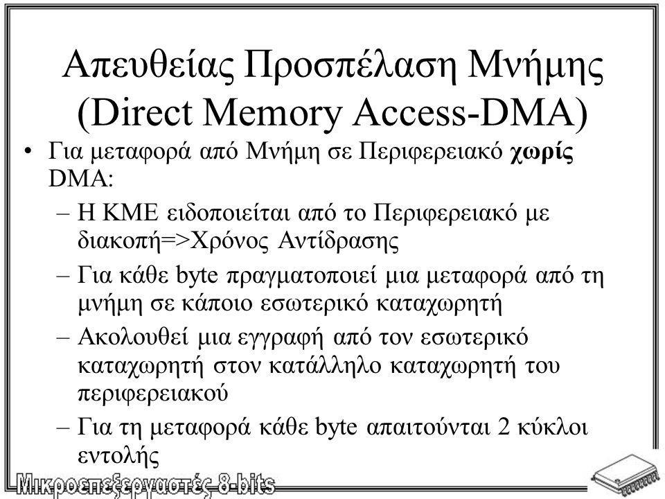 Απευθείας Προσπέλαση Μνήμης (Direct Memory Access-DMA)