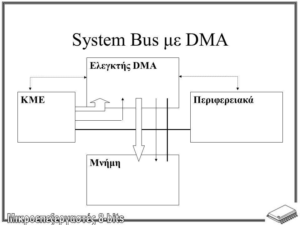 System Bus με DMA Ελεγκτής DMA ΚΜΕ Περιφερειακά Μνήμη