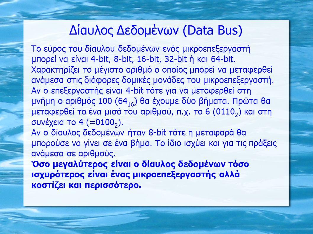 Δίαυλος Δεδομένων (Data Bus)