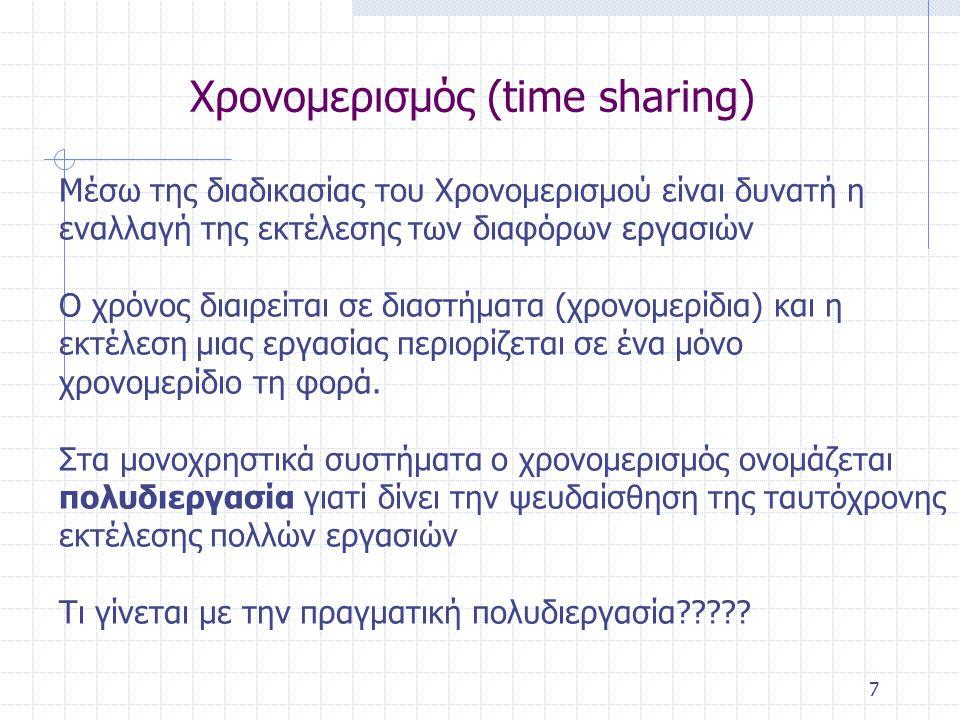 Χρονομερισμός (time sharing)