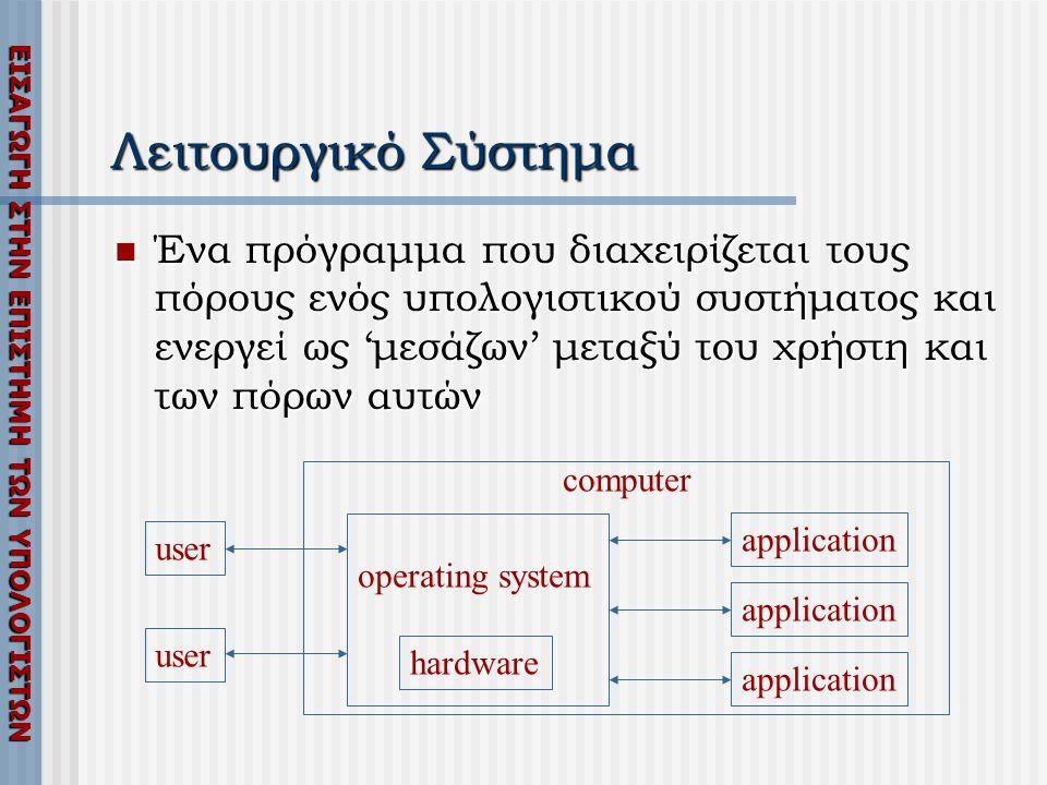 Λειτουργικό Σύστημα