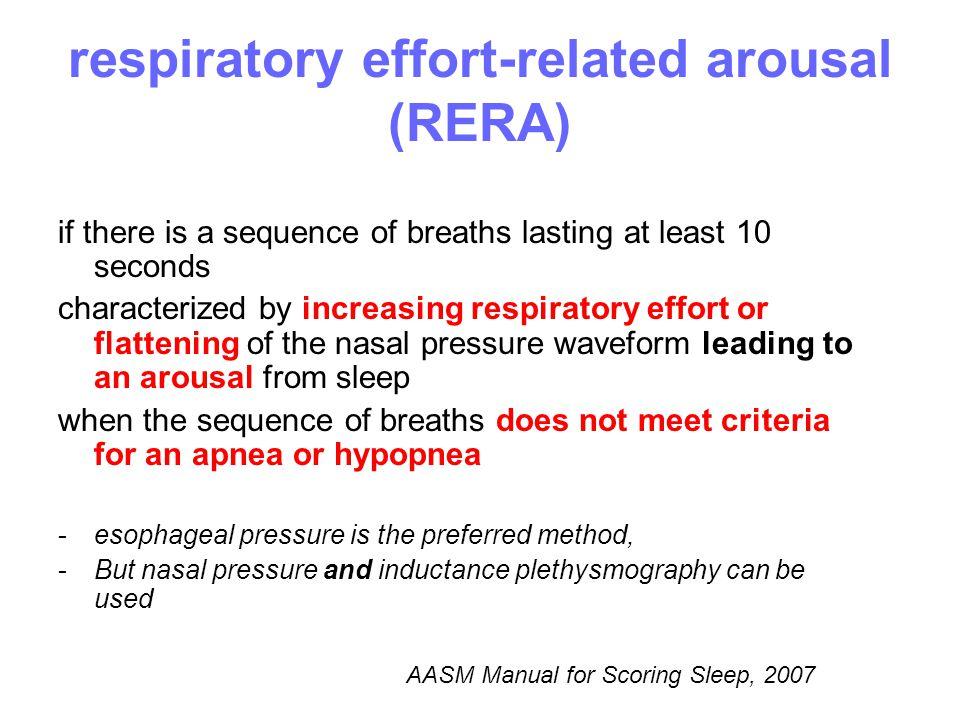 respiratory effort-related arousal (RERA)