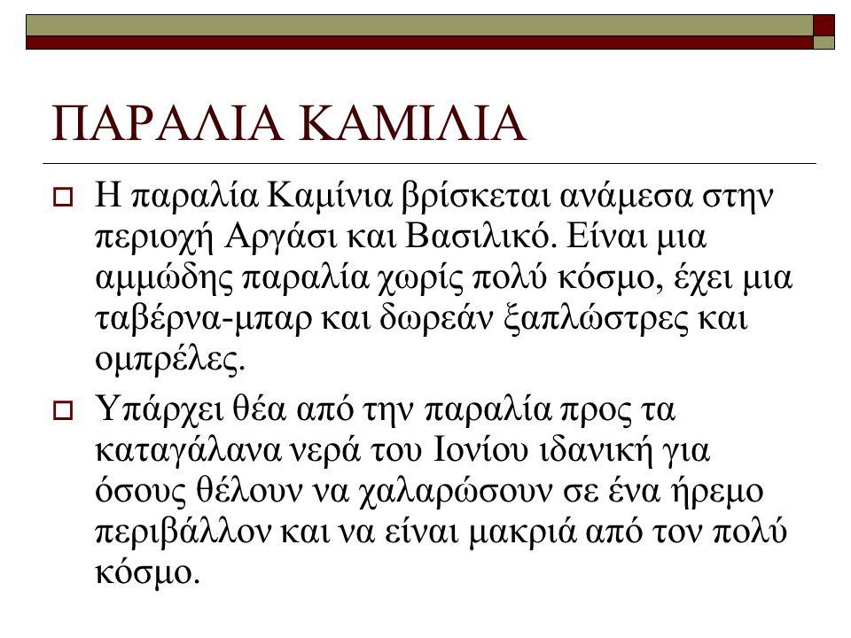 ΠΑΡΑΛΙΑ ΚΑΜΙΛΙΑ