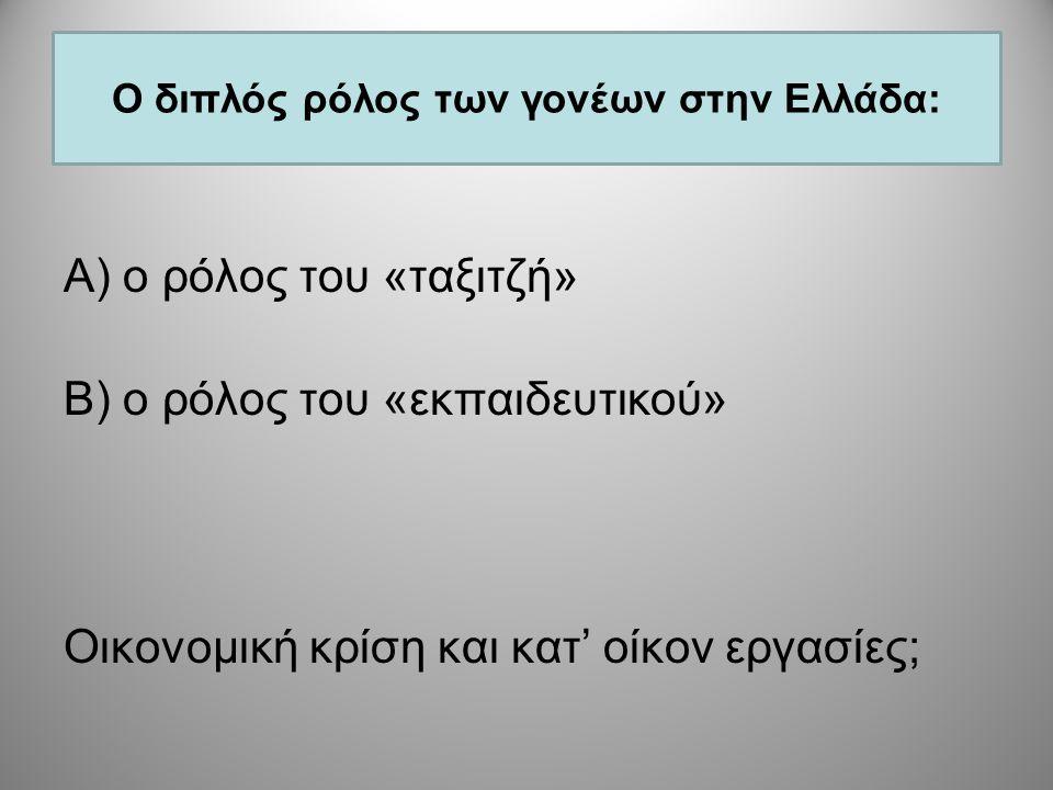 Ο διπλός ρόλος των γονέων στην Ελλάδα: