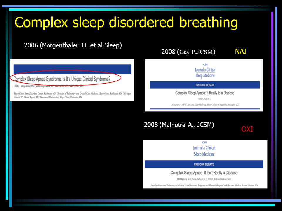 Complex sleep disordered breathing