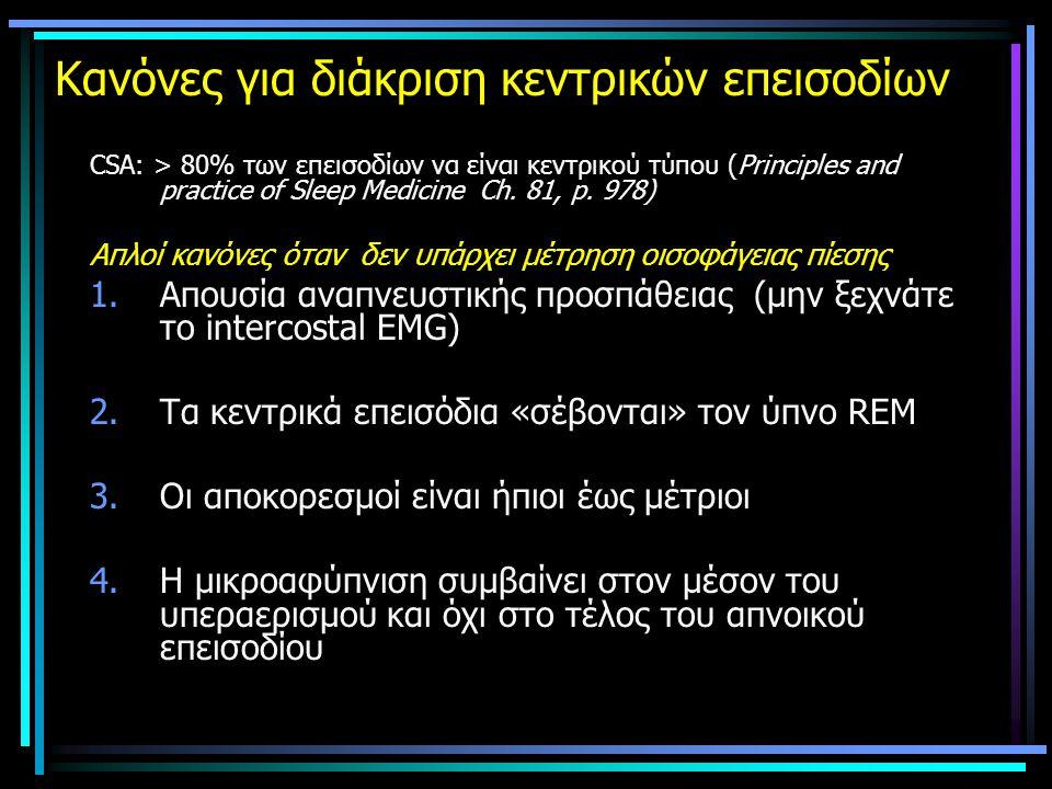 Κανόνες για διάκριση κεντρικών επεισοδίων